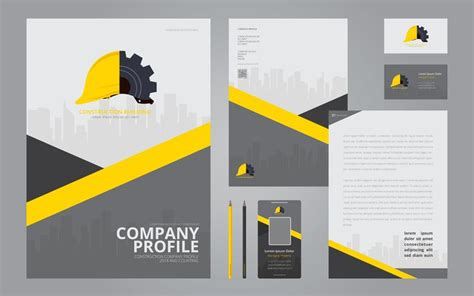 Company Stationery Template Pages by Construction Logos In Stationery Set Media Construction