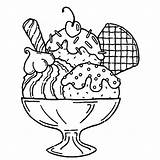 Ice Cream Sundae Drawing Coloring Pages Getdrawings sketch template