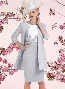 Kleider Brautmutter Standesamt : kleider f r die brautmutter etui linie u ausschnitt knielang satin kleid f r die ~ Eleganceandgraceweddings.com Haus und Dekorationen