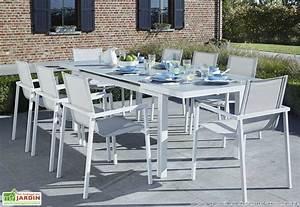 Table De Jardin Blanche : table jardin blanche table aluminium jardin maisonjoffrois ~ Teatrodelosmanantiales.com Idées de Décoration