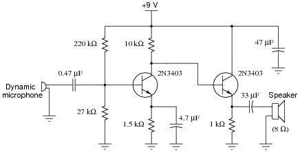 Speaker Bjt Amplifier Function Electrical Engineering