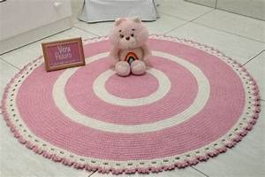 Baby Tapete Rosa : tapete de croche rosa e off baby cec lia ateli vera ~ Michelbontemps.com Haus und Dekorationen