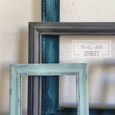 diy painted thrift store picture frames  eighth street