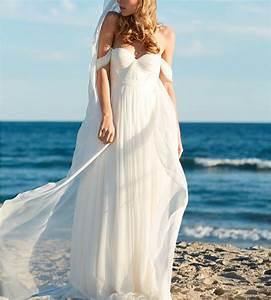 elegant a line empire bridal beach wedding dress cute With classy beach wedding dresses