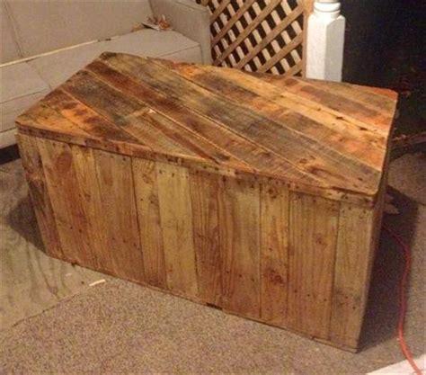 diy pallet wood chest pallet trunk pallet furniture plans