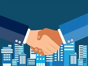 Free Partnership Agreement Contract Shaking Hands Flat Design Concept Handshake Business