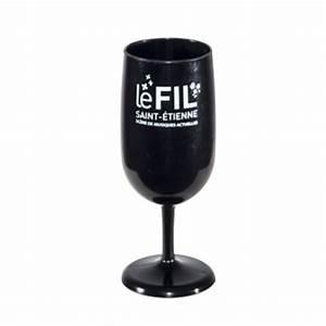 Verre A Vin Noir : verre vin r utilisable et personnalisable greencup ~ Teatrodelosmanantiales.com Idées de Décoration