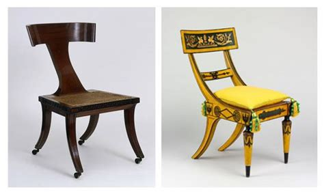 klismos chairs inspired  ancient greek furniture