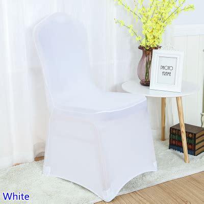 aliexpress com buy white colour chair covers spandex