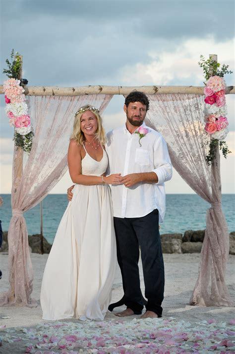 miami beach wedding at sunset wedding bells seashells