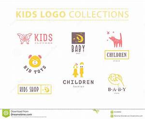 Kids fashion label design. stock vector. Illustration of ...