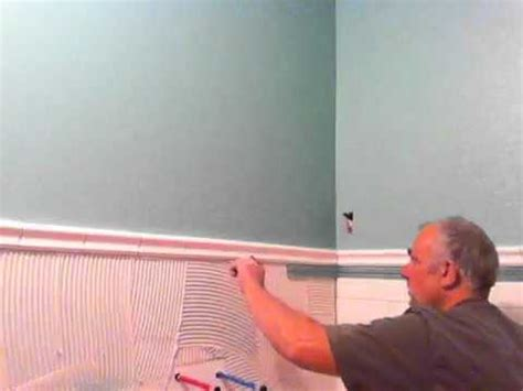 installation tile wainscoting subway tile  youtube