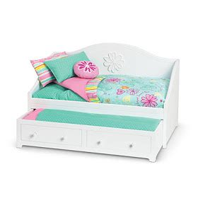lipstick  sawdust trundle bed  american girl