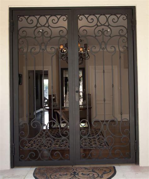 wrought iron security doors rivas design