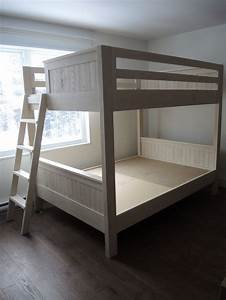 Lit Superposé Double : lit superpos double atelier meuble rustique ~ Premium-room.com Idées de Décoration
