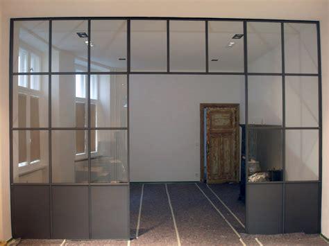 Trennwand Mit Glas by Trennwand Stahl Glas Stahlblau