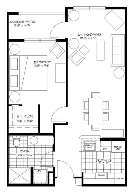 one bedroom floor plan one bedroom apartments plans home design