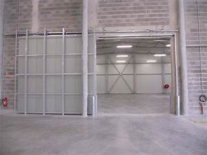 portes sectionnelles rideau metalique porte souples With porte coupe feu coulissante automatique