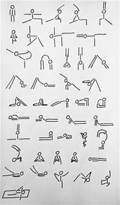 Pressesctocancel  Yoga Stick Man In Various Asanas