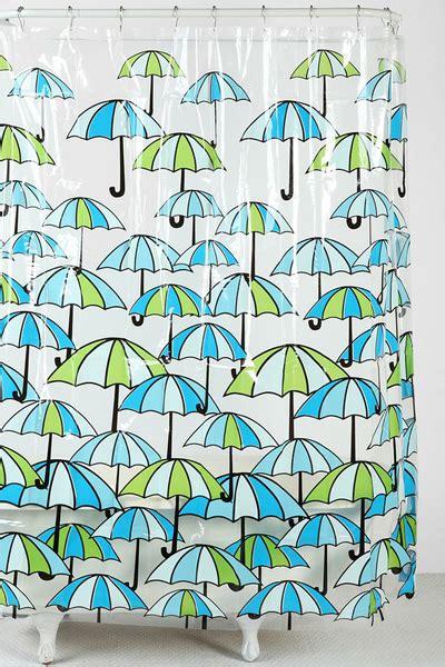 umbrella shower curtain everything turquoise