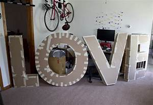 how to make giant cardboard paper mache letters pictures With giant stand up letters