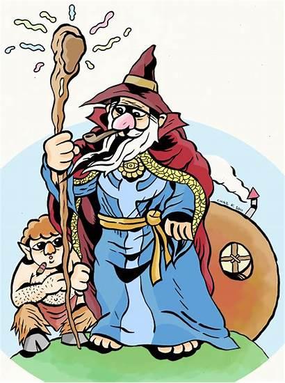 Hobbit Clip Clipart Cliparts Narnia Cartoon Gandalf