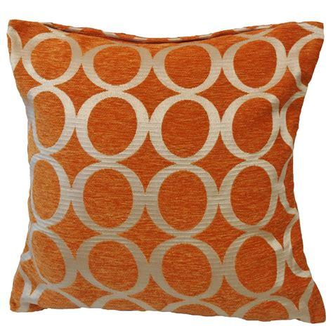 Orange Cusions by Oh Filled Cushion Orange Cheap Cushions Throws Uk
