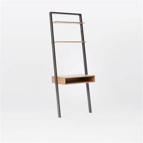ladder shelf desk white ladder shelf desk wide bookshelf set west elm