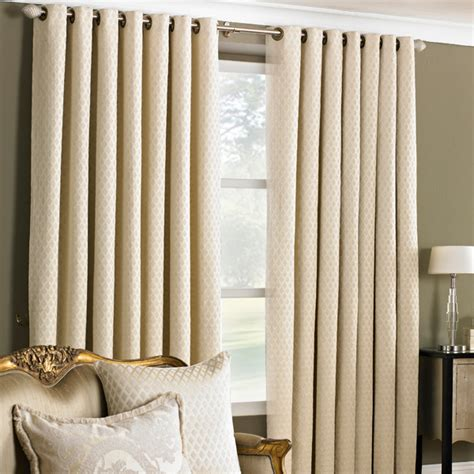 de vere chenille jacquard woven lined eyelet curtains