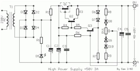 Power Supply Stabilized Regulated Circuit