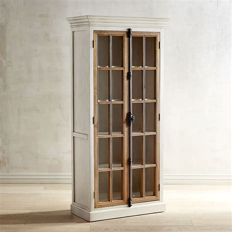 cremone antique white tall cabinet pier 1 imports