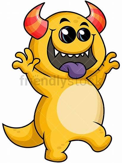 Monster Cartoon Funny Clipart Vector Friendlystock Clip