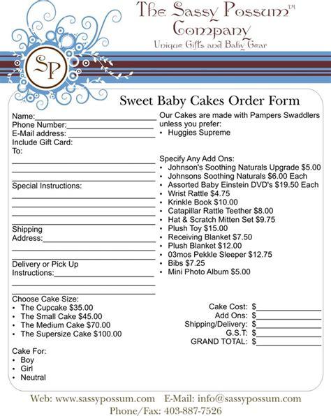 order form sample cake supplies pinterest order form
