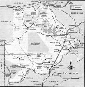 Botswana South Africa Map