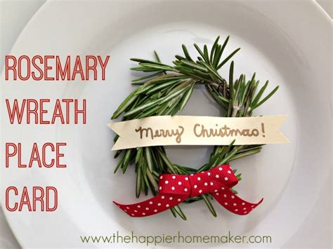 How To Make Rosemary Wreath Place Cards For Christmas Dinner