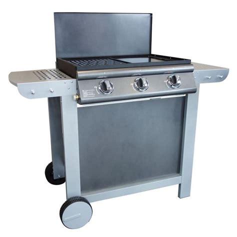 Barbecue A Gaz Sur Pierre De Lave Avec Plancha