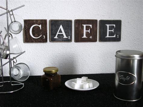 cuisine couleur cappuccino lettres décoratives cafe pour une décoration murale de