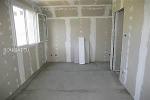 poser du gyproc montage isolant cloisons plafond With platrer un mur interieur