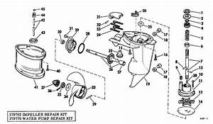 Johnson Gearcase Group Parts For 1968 5hp Ld