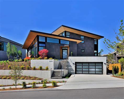 single family custom home design mid century modern kirkland wa shoesmith  architects