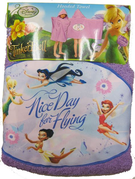 tinkerbell nice day for flying hooded towel potty