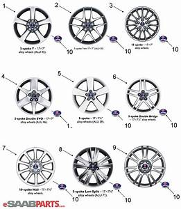 12802437  Saab Wheel Center Cap - Black Edge - 62 5mm