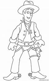 Cowboy Coloring Printable Pages Template Cool2bkids sketch template