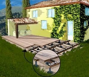 Terrasse Sur Plot : pose d une terrasse avec plots r0mys 39 s blog ~ Melissatoandfro.com Idées de Décoration