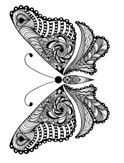 printable insect animal adult coloring pages