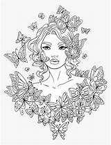 Colouring Pages Teens Coloring Woman Adults Pngitem sketch template