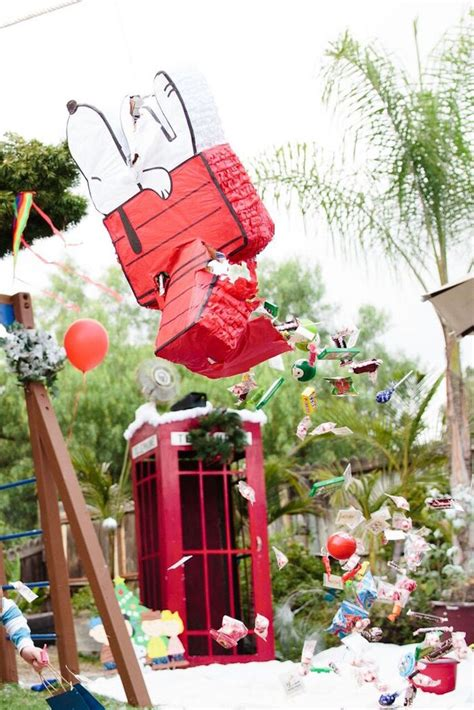 karas party ideas pinata   charlie brown christmas