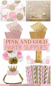 Pretty pink and gold party supplies! http ...