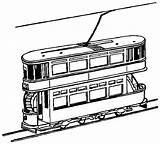 Train Coloring Tram Pages York Trains Clipart Decker Double Printable Outline Drawings 9d66 Cliparts Drawing Freight Toy Sketch Template Loader sketch template