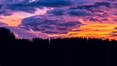 Clouds 4k Sunset Sky Cloud Purple Forest